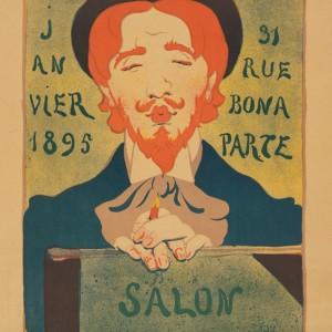 Poster for the 17th or 18th Exhibition of Salon des Cent at La Plume (Paris, January 1896)