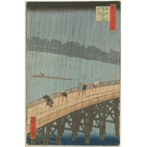 Van Gogh Giclée, Sudden Evening Shower on the Great Bridge near Atake