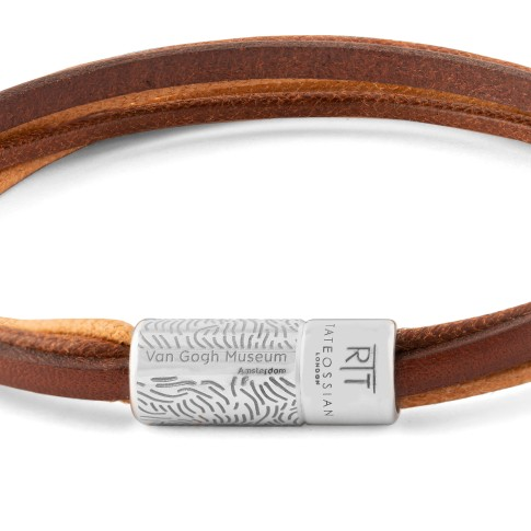 Van Gogh Tateossian® leather multi-strand bracelet brown