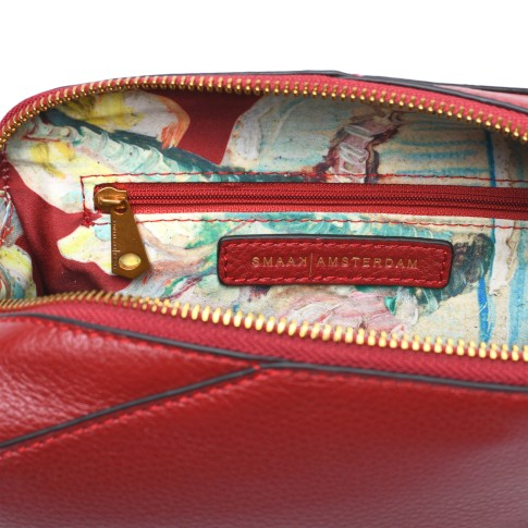 Smaak® Leather bag Van Gogh Blossom Sprig red