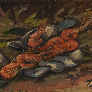 Van Gogh Giclée, Prawns and Mussels