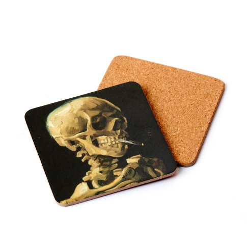 Coaster Head of a Skeleton with a Burning Cigarette