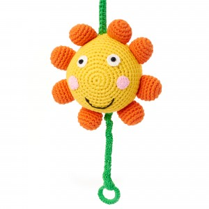 Music box crochet Sunflowers