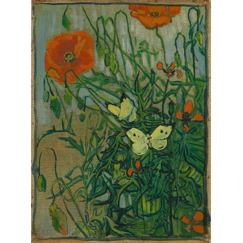 Van Gogh Giclée, Butterflies and Poppies