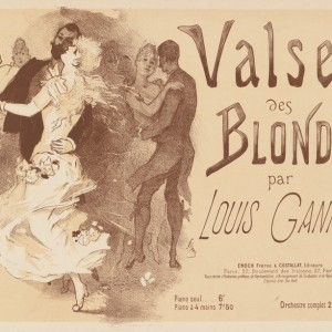 Cover for sheet music Valse des blondes by Louis Ganne
