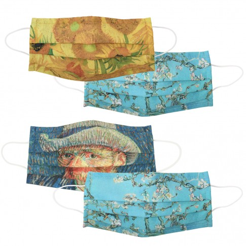 Van Gogh Face masks, set of 4