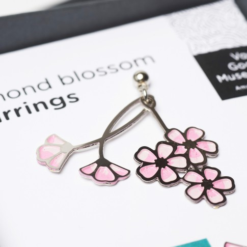 Earrings Almond Blossom pink