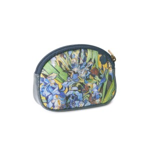 Van Gogh Coin purse Leather & Silk Irises