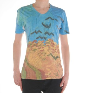 Van Gogh T-shirt Wheatfield with Crows
