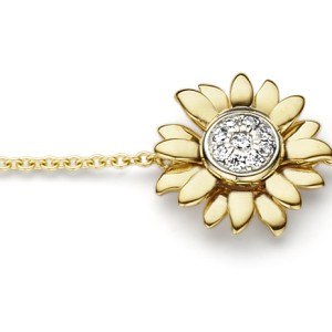 Van Gogh Gassan® Golden bracelet with diamonds Sunflowers