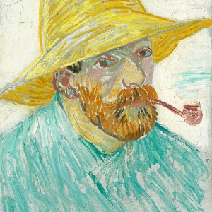 Van Gogh Giclée, Self-Portrait with Pipe and Straw Hat