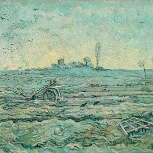 Van Gogh Giclée, Snow-Covered Field with a Harrow (after Millet)