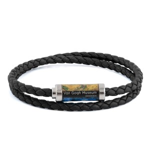 Van Gogh Tateossian® leather braided bracelet black