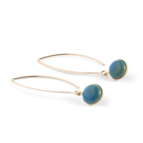 Van Gogh Earrings Elipse ocean blue, by Ellen Beekmans®