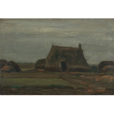 Van Gogh Giclée, Farm with Stacks of Peat
