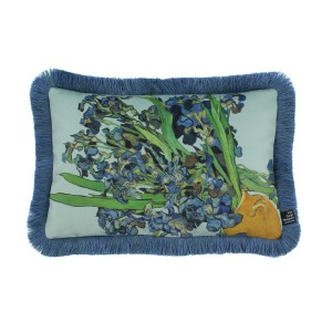 Van Gogh Cushion cover fringed Irises 30 x 45