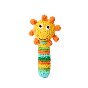Rattle crochet Sunflowers