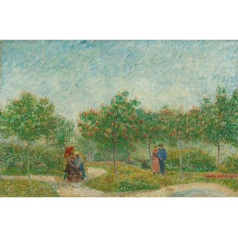 Van Gogh Giclée, Garden with Courting Couples: Square Saint-Pierre