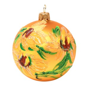 Van Gogh Glitter Bauble Sunflowers