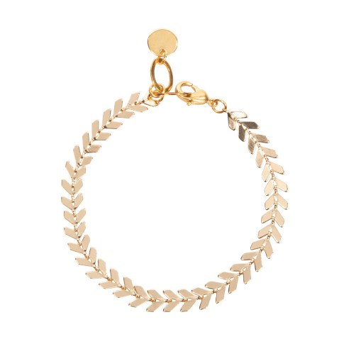 Van Gogh Gold plated bracelet with leaves, by Ellen Beekmans®