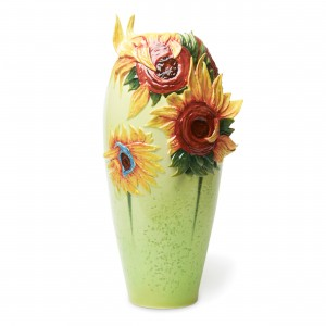 Florero de porcelana Franz Collection® Van Gogh, Los girasoles