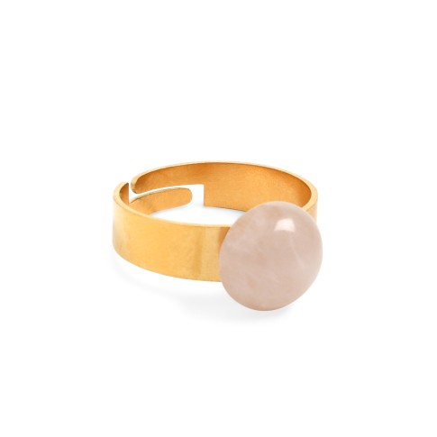 Van Gogh Ring with rose quartz gemstone, by Ellen Beekmans®