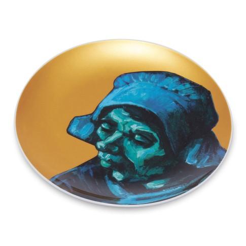 Plato de porcelana dorado Van Gogh &Klevering®, Los comedores de patatas 1
