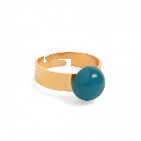 Van Gogh Ring with blue jade gemstone, by Ellen Beekmans®