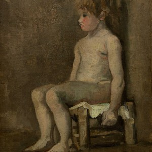 Van Gogh Giclée, Nude Girl, Seated