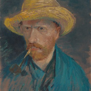 Van Gogh Giclée, Self-Portrait with Straw Hat and Pipe