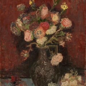 Van Gogh Giclée, Vase with Chinese Asters and Gladioli