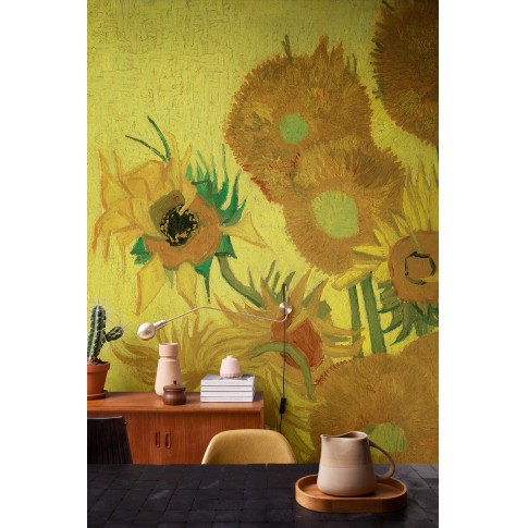 Papel de pared 3D Van Gogh, Girasoles