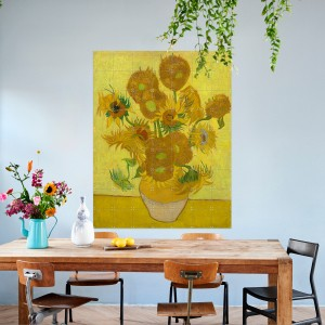 Decoración de pared Van Gogh, Los girasoles 140 x 180