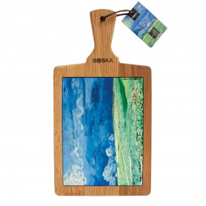 Cheese board Van Gogh Wheatfield under Thunderclouds