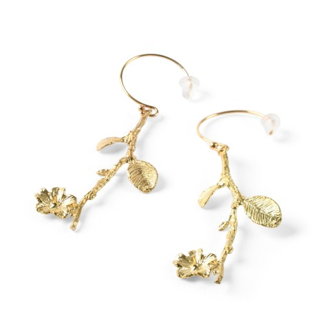 Van Gogh Earrings with blossom branch, by Ellen Beekmans®