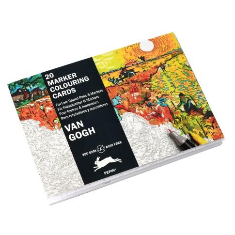 Tarjetas Para Colorear Con Rotulador Van Gogh