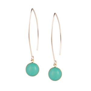 Van Gogh Earrings Elipse turquoise, by Ellen Beekmans®