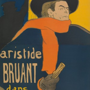 Poster for the performance of Aristide Bruant in the Café-concert Eldorado