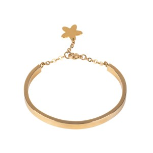 Van Gogh Gold plated bracelet with flower, by Ellen Beekmans®