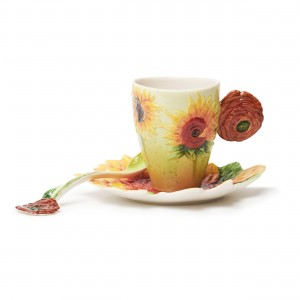 Taza y plato Franz Collection® Van Gogh, Los girasoles