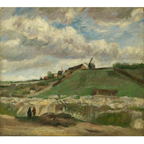 Van Gogh Giclée, The Hill of Montmartre with Stone Quarry