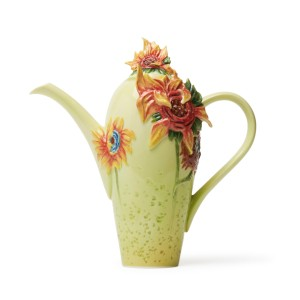 Tetera de porcelana Franz Collection® Van Gogh, Los girasoles