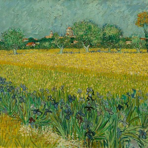 Van Gogh Giclée, Field with Irises near Arles