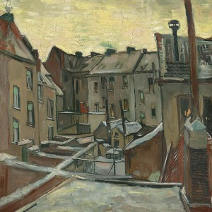 Van Gogh Giclée, Houses Seen from the Back