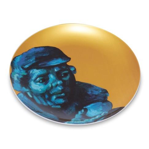 Plato de porcelana dorado Van Gogh &Klevering®, Los comedores de patatas 3
