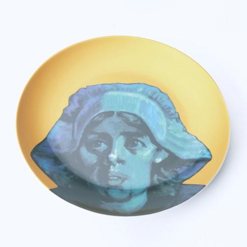 Plato de porcelana dorado Van Gogh &Klevering®, Los comedores de patatas 2