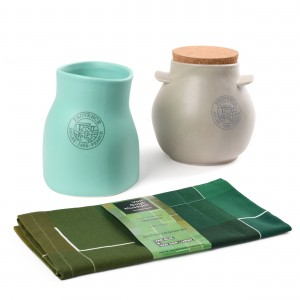 Van Gogh Gift set The Harvest, storage jar + organiser + tea towel blue