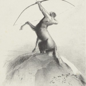 Centaur Aiming at the Clouds (Centaure visant les nues)