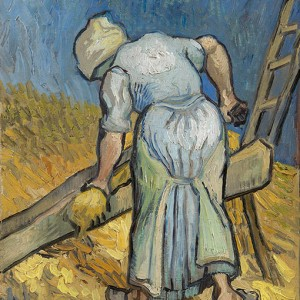 Van Gogh Giclée, Peasant Woman Bruising Flax (after Millet)
