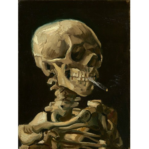 Van Gogh Giclée, Head of a Skeleton with a Burning Cigarette